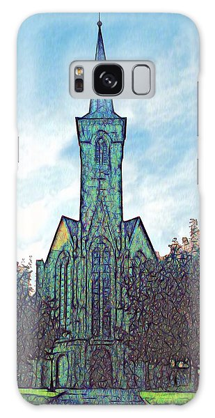 Church Steeple At Sunrise Galaxy Case by Dennis Lundell