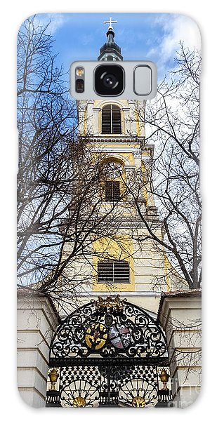 Church Tower With Wrought Iron Gate  Grossweikersdorf Austria Galaxy Case