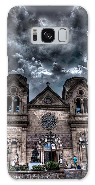Church Under An Angry Sky Galaxy Case