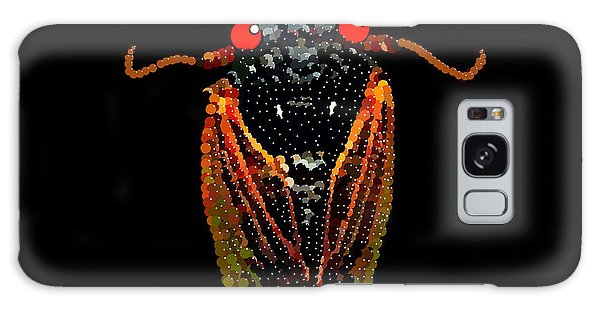 Cicada In Black Galaxy Case