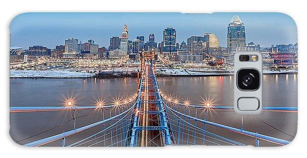 Cincinnati From On Top Of The Bridge Galaxy Case