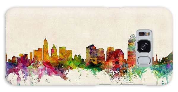 Poster Galaxy Case - Cincinnati Ohio Skyline by Michael Tompsett