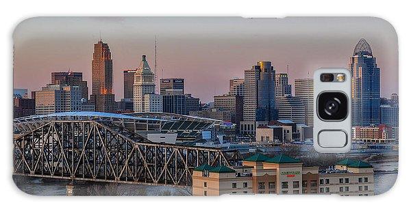 D9u-876 Cincinnati Ohio Skyline Photo Galaxy Case