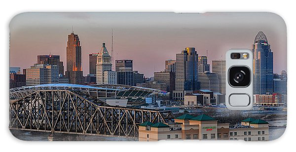 D9u-876 Cincinnati Ohio Skyline Photo Galaxy Case