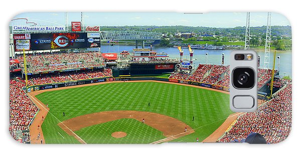 Cincinnati Reds Stadium Galaxy Case by Kathy Barney