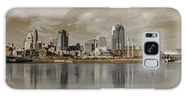 Cincinnati Riverfront Galaxy Case by Diana Boyd