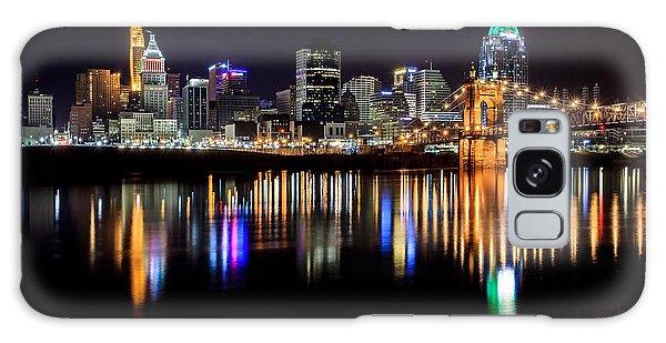 Cincinnati Skyline In Christmas Colors Galaxy Case
