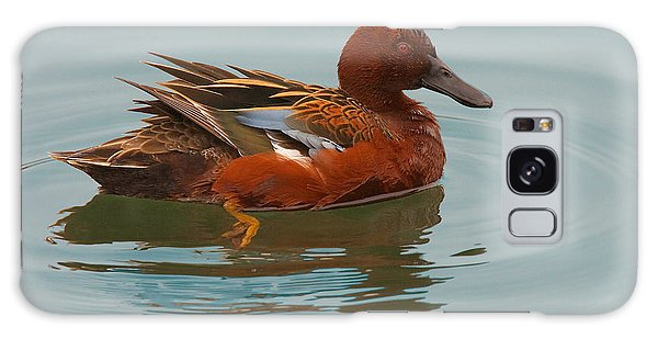 Cinnamon Teal Galaxy Case by Ram Vasudev