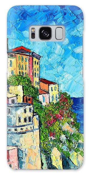 Cinque Terre Italy Manarola Painting Detail 3 Galaxy Case