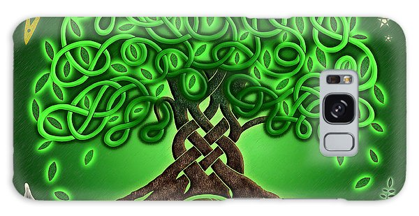 Circle Celtic Tree Of Life Galaxy Case by Kristen Fox