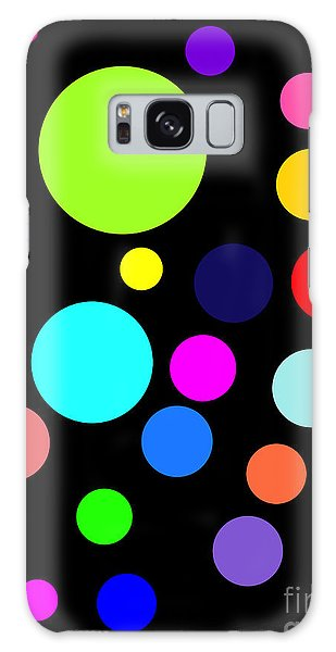 Circles On Black Galaxy Case