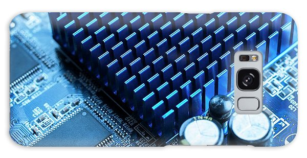 No-one Galaxy Case - Circuit Board Heat Sink by Science Photo Library
