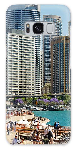 Circular Quay - Sydney - Australia - With Skyscrapers And A Hint Of Purple Jacaranda Galaxy Case