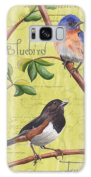 Bluebird Galaxy Case - Citron Songbirds 1 by Debbie DeWitt