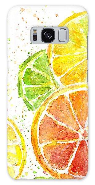 Summer Galaxy Case - Citrus Fruit Watercolor by Olga Shvartsur