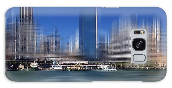 Front Galaxy Case - City-art Sydney Circular Quay by Melanie Viola