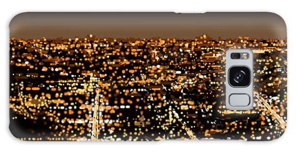 City At Night Galaxy Case by Shabnam Nassir