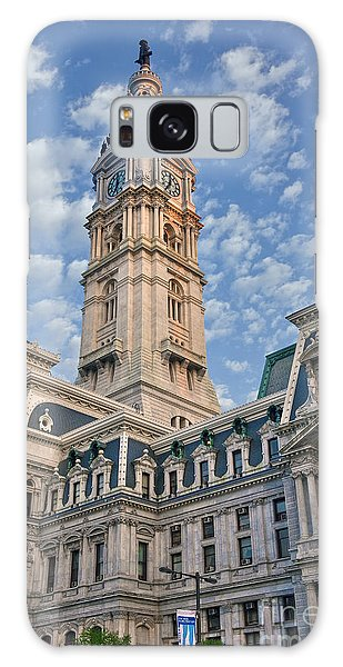 City Hall Clock Tower Downtown Phila Pa Galaxy Case