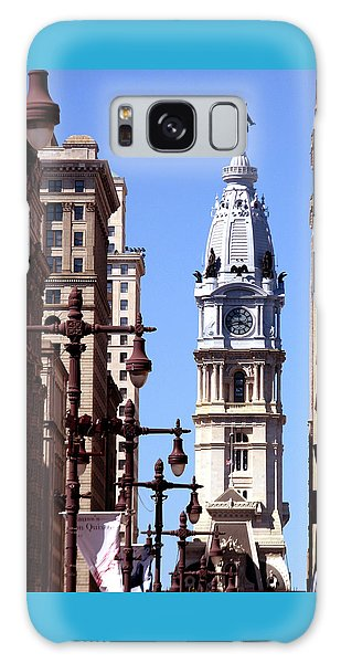 Philadelphia City Hall From Broad St Galaxy Case by Christopher Woods