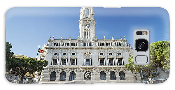 City Hall In Porto Portugal Galaxy Case