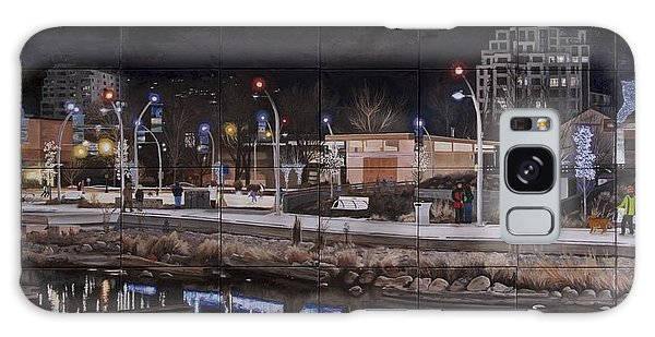 Galaxy Case featuring the painting City Lights by Bonnie Heather