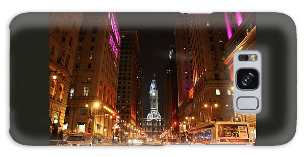 Philadelphia City Lights Galaxy Case by Christopher Woods