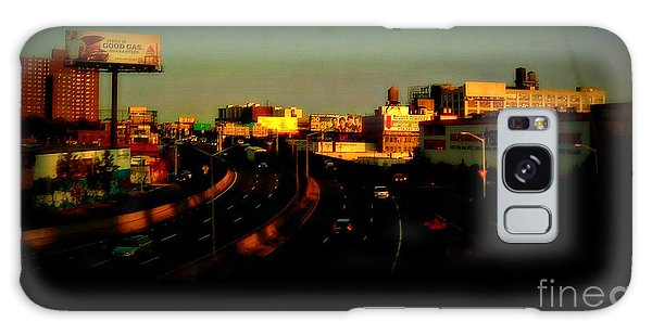City Of Gold - New York City Sunset With Water Towers Galaxy Case by Miriam Danar