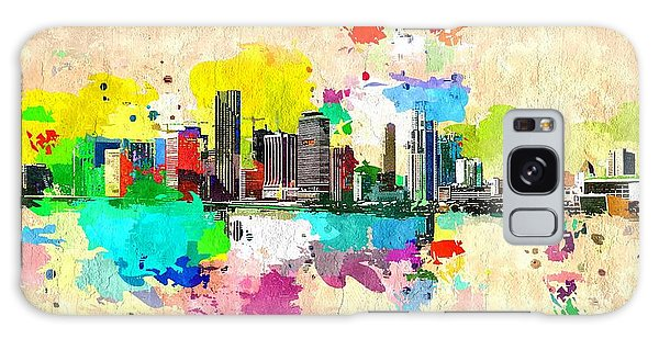 City Of Miami Grunge Galaxy Case by Daniel Janda
