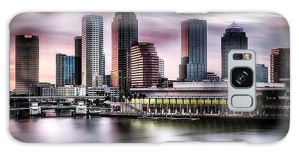 City Of Tampa Skyline At Dusk In Hdr Galaxy Case
