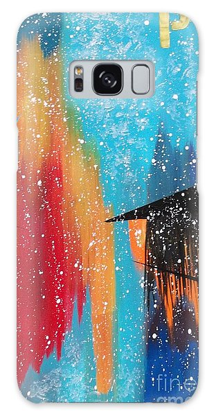 City Perspectives With A Broad Brush Galaxy Case by Theresa Kennedy DuPay