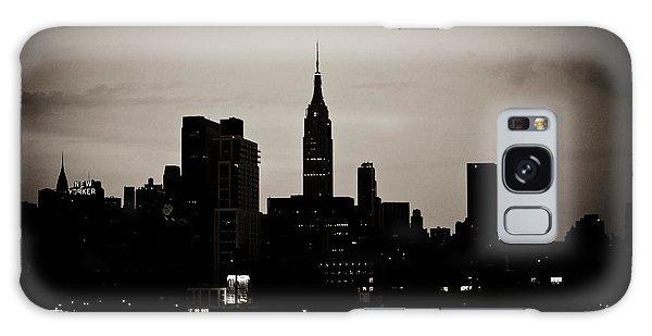 City Silhouette Galaxy Case by Sara Frank