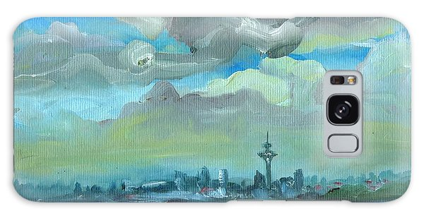 City Skyline Impressionist Painting Galaxy Case