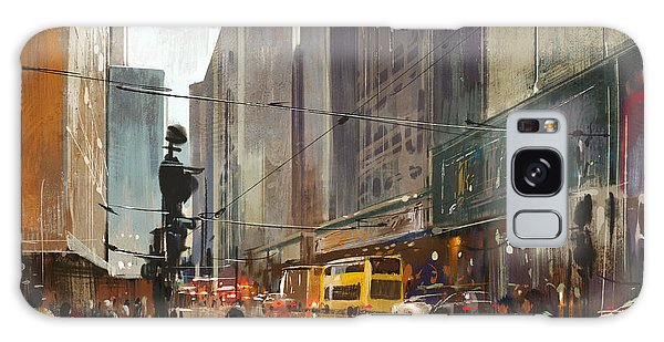 Building Galaxy Case - City Street Digital by Tithi Luadthong