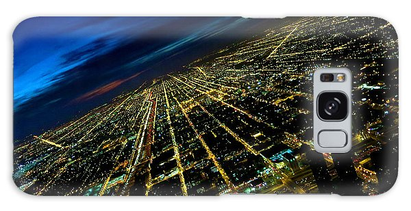 City Street Lights Above Galaxy Case
