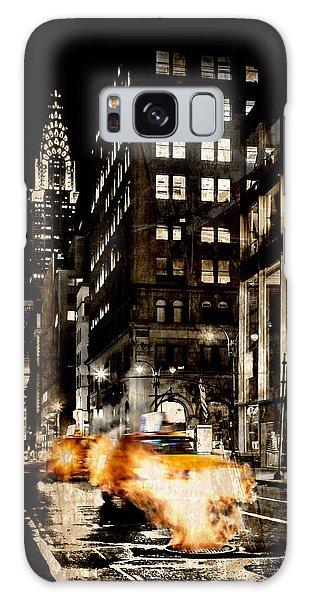 New York City Taxi Galaxy Case - City Streets  by Az Jackson