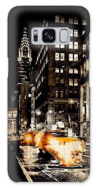 Chrysler Building Galaxy S8 Case - City Streets  by Az Jackson