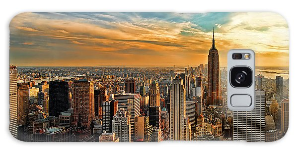 Sunset Galaxy Case - City Sunset New York City Usa by Sabine Jacobs