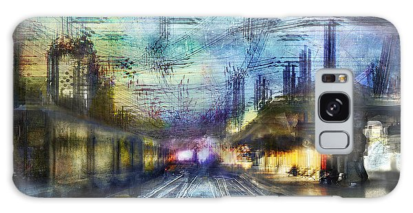 Cityscape #37 - Crossing Lines Galaxy Case
