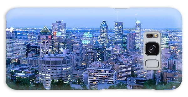 Quebec City Galaxy Case - Cityscape At Dusk, Montreal, Quebec by Panoramic Images