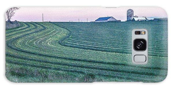 Farm Fields At Dusk Galaxy Case