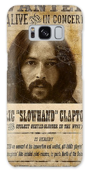 Eric Clapton Galaxy Case - Clapton Wanted Poster by Gary Bodnar