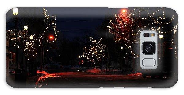 Clare Michigan At Christmas 12 Galaxy Case
