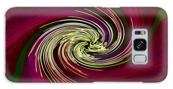 Claret Red Swirl Clematis Galaxy Case by Debbie Oppermann