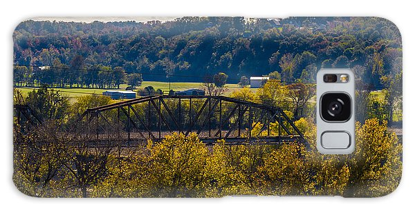 Clarksville Railroad Bridge Galaxy Case