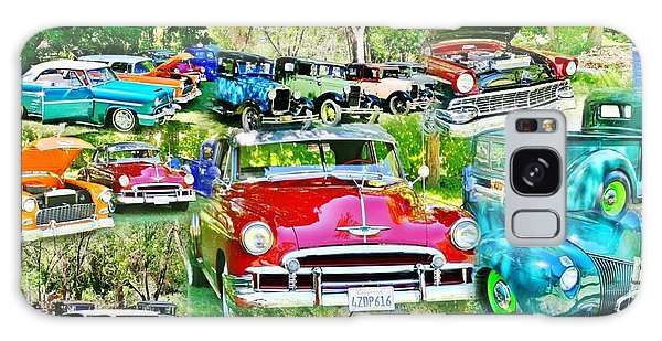 Classic Car Collage Galaxy Case