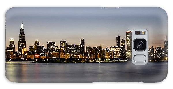 Classic Chicago Skyline At Dusk Galaxy Case