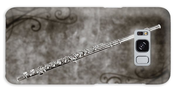 Classic Flute Music Instrument Photograph In Sepia 3306.01 Galaxy Case