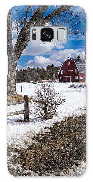 Classic New England Farm Scene Galaxy Case