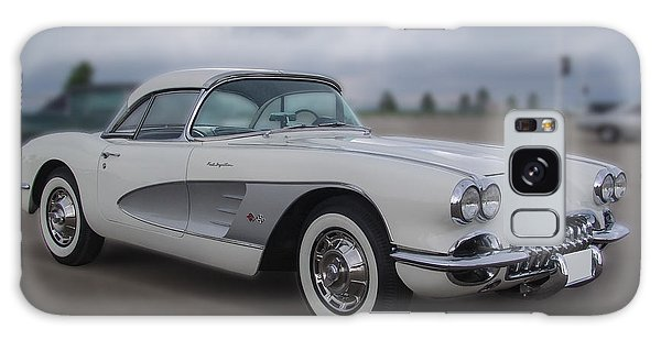 Classic White Corvette Galaxy Case
