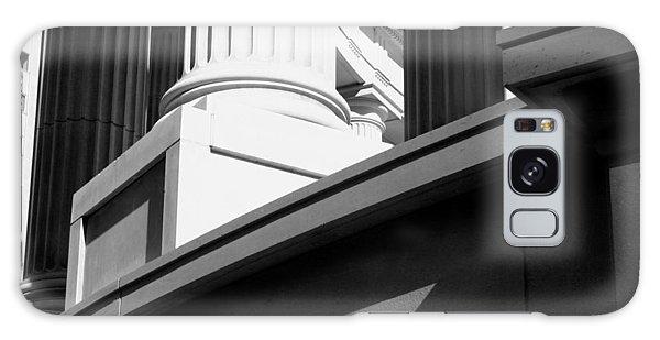 Classical Architectural Columns Black White Galaxy Case